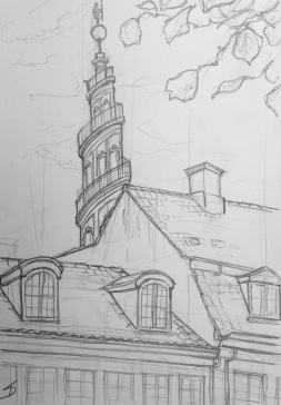 Urban Art 'Overgaden Neden Vandet, Copenhagen, Denmark.' Near Christiania - an occupied part of the city. sketchbookexplorer.com #art #drawing #sketch #pencil #illustration #travel #architecture