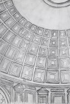 The Pantheon, Rome. View of the dome from inside. Amazing to think it's almost 2000 years old.