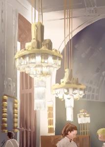Urban iPad Art - Prague, Czech Republic. 'Obecni Dum Cafe.' Painting of my pencil sketch, using an ipad 2, Procreate, and a basic Wacom stylus. sketchbookexplorer.com #art #drawing #sketch #ipad #illustration #travel #architecture #prague