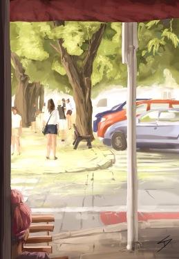 ipad Painting - 'Vitezna, Prague.' @davidasutton @sketchbookexplorer Facebook.com/davidanthonysutton #sketch #ipadart #prague #travelblog #travel #vitezna