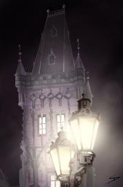 ipad Painting - 'Prašná Brána, Prague.' @davidasutton @sketchbookexplorer Facebook.com/davidanthonysutton #sketch #ipadart #prague #travelblog #travel #prasnabrana