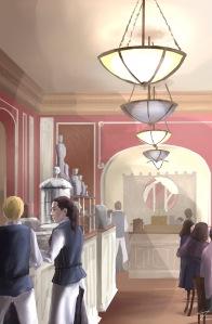 ipad Painting - 'Cafe Louvre, Prague.' @davidasutton @sketchbookexplorer Facebook.com/davidanthonysutton #sketch #ipadart #prague #travelblog #travel #cafelouvreprague