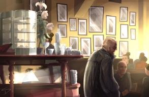 ipad Painting - 'Kavovarna, Prague.' @davidasutton @sketchbookexplorer Facebook.com/davidanthonysutton #sketch #ipadart #prague #travelblog #travel #Kavovarna
