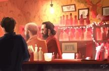 ipad Painting - 'Malkovich Bar, Prague.' @davidasutton @sketchbookexplorer Facebook.com/davidanthonysutton #sketch #ipadart #prague #travelblog #travel #malkovichbar