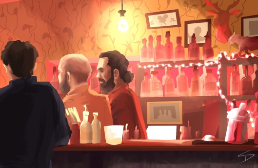 ipad Painting - 'Malkovich Bar, Prague.' @davidasutton @sketchbookexplorer Facebook.com/davidanthonysutton #sketch #ipadart #prague #travelblog #travel #malkovichbar