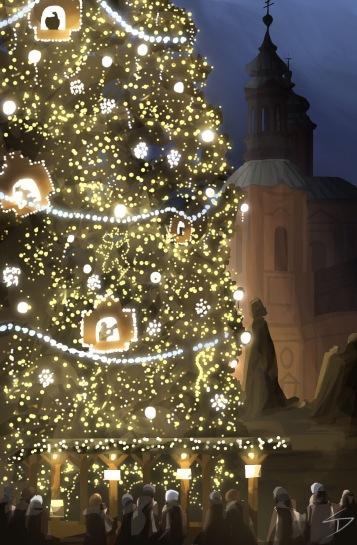 ipad Painting - 'Prague Christmas Market.' @davidasutton @sketchbookexplorer Facebook.com/davidanthonysutton #sketch #ipadart #prague #travelblog #travel #praguechristmasmarket