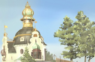 ipad painting - 'Hanavsky Pavillon, Prague.' @davidasutton @sketchbookexplorer Facebook.com/davidanthonysutton #sketch #ipadart #prague #travelblog #travel #hanavskypavillon