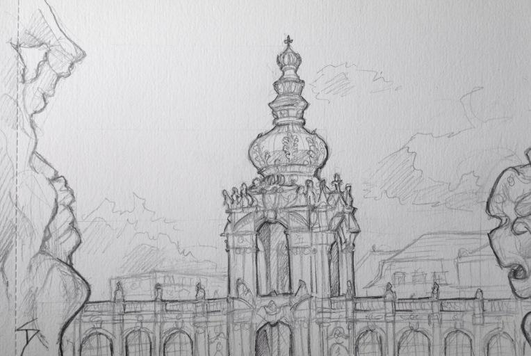 Quick Sketch The Zwinger Dresden Sketchbook Explorer