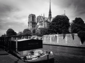 Iconic Paris. The cathedral's name means 'Our lady of Paris'. It took almost 200 years to build. sketchbookexplorer.com @davidasutton @sketchbookexplorer Facebook.com/davidanthonysutton #photograph #photo #b&w #paris #france #travel #travelblog #notredamedeparis