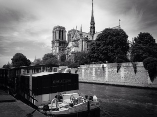 Iconic Paris. The cathedral's name means 'Our lady of Paris'. It took almost 200 years to build. sketchbookexplorer.com @davidasutton @sketchbookexplorer Facebook.com/davidanthonysutton #photograph #photo #b&w #paris #france #travel #travelblog #notredamedeparis