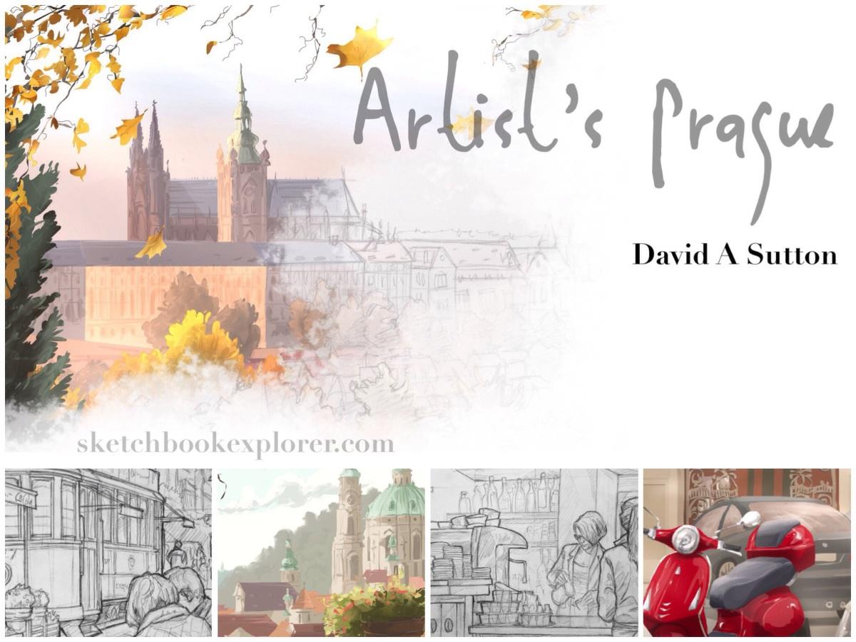 Artist's Prague. Travel art blog article. sketchbookexplorer.com