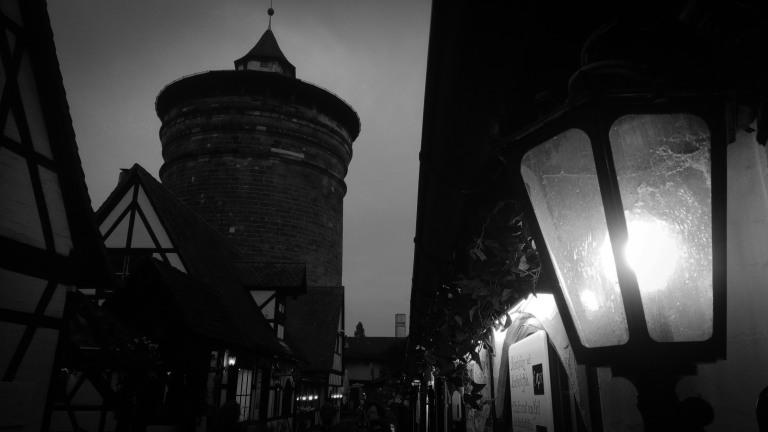 Urban Photo - Nuremberg, Germany. 'Handwerkerhof medieval market.' A recreated medieval market, in the historic town walls of Nuremberg. sketchbookexplorer.com @davidasutton @sketchbookexplorer Facebook.com/davidanthonysutton #photograph #b&w #nuremberg #travel #travelblog #handwerkerhofnuremberg