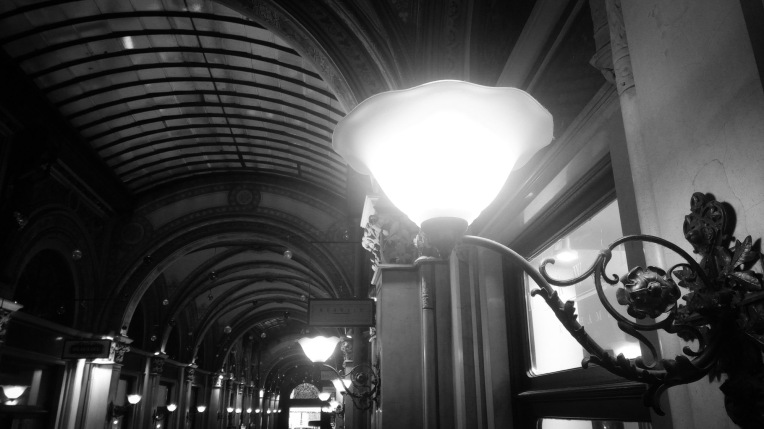Urban photo - Vienna, Austria. 'Freyung Passage.' Once home to the stock exchange, this elegant shopping arcade cuts through the Palais Ferstel. The perfect place to shelter from the winter weather in style. sketchbookexplorer.com @davidasutton @sketchbookexplorer Facebook.com/davidanthonysutton #photograph #b&w #vienna #travel #travelblog #freyungpassage