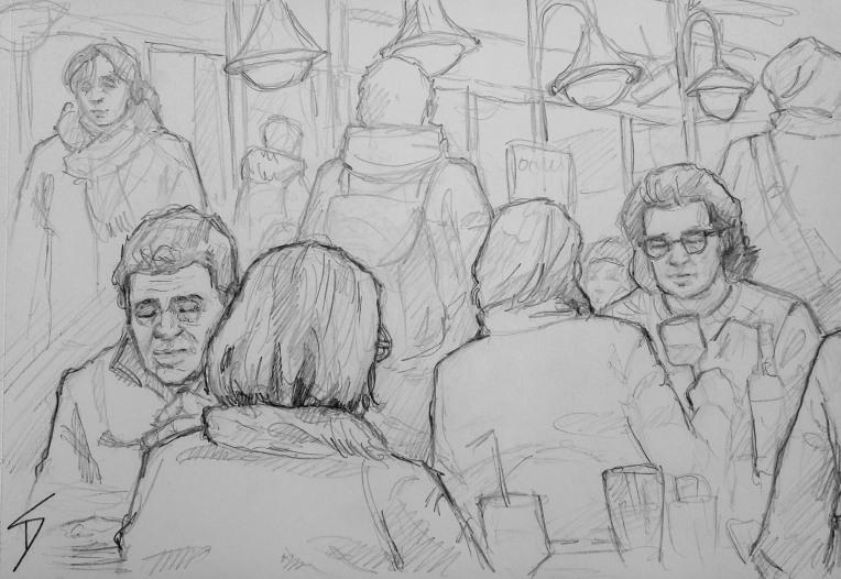 Urban Art - Minerlgasse, Vienna, Austria. 'Naschmarkt.' View of the famous food market. sketchbookexplorer.com @davidasutton @sketchbookexplorer Facebook.com/davidanthonysutton #drawing #sketch #vienna #travel #travelblog #naschmarkt