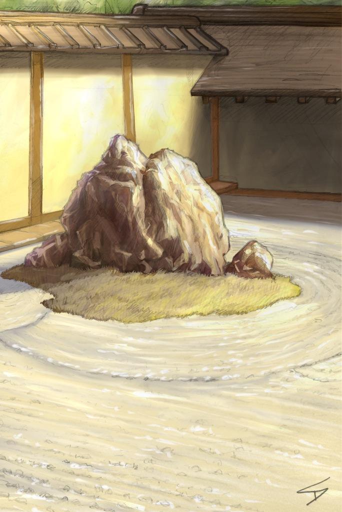 Ipad art - Ukyo Ward, Kyoto, Japan.'Ryoanji Temple.' A digitally painted up version of my original sketch. sketchbookexplorer.com @davidasutton @sketchbookexplorer Facebook.com/davidanthonysutton #japan #kyoto #ukyoward #ryoanjitemple #travel #travelblog #art #sketching #cheeryblossom #cherryblossomseason #cherryblossomjapan #ipadart #procreate #sketchbookpro