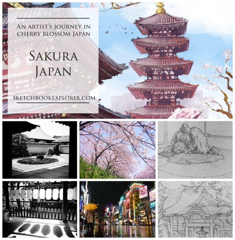 Sakura Japan, an artist's journey in cherry blossom Japan, by David Sutton. sketchbookexplorer.com @davidasutton @sketchbookexplorer Facebook.com/davidanthonysutton #japan #tokyo #kyoto #nara #osaka #travel #travelblog #photography #art #sketching #ipadart #sketchbookpro #procreate #cheeryblossom #cherryblossomseason #cherryblossomjapan