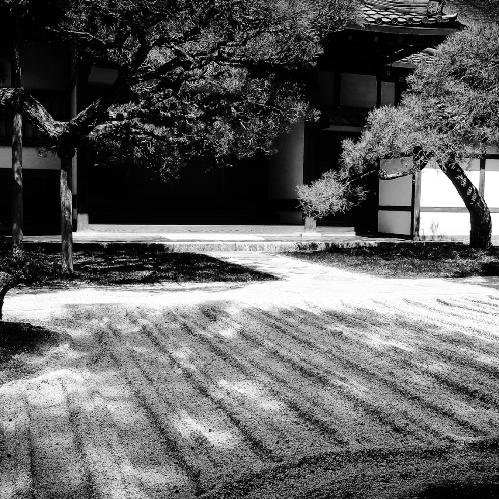 Urban Photos – Sakyo-Ku, Kyoto, Japan. 'Ginkaku-Ji Temple, stone garden.' Complete image from my latest travel art blog article 'Sakura Japan.' Now online - sketchbookexplorer.com @davidasutton @sketchbookexplorer Facebook.com/davidanthonysutton #photography #japan #kyoto #ginkakujitemple #buddhism #gardens #meditation #samurai #travel #travelblog #cherryblossom #cherryblossomseason #cherryblossomjapan