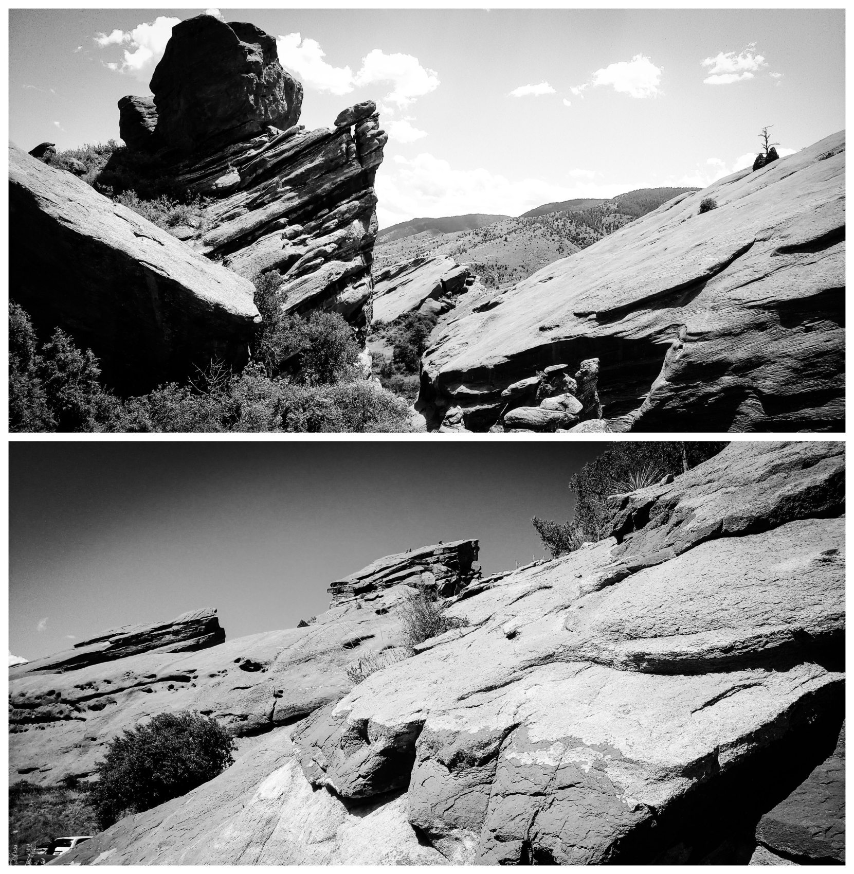 Nature Photos B&W - Nr Morrison, Colorado, US. 'Red Rocks Park.' The rock formations are over 200 million years old. sketchbookexplorer.com @davidasutton @sketchbookexplorer Facebook.com/davidanthonysutton #redrocksparkcolorado #colorado #redrocksamphitheatre #unitedstates #USA #travel #travelblog #photography #nature #wildwest