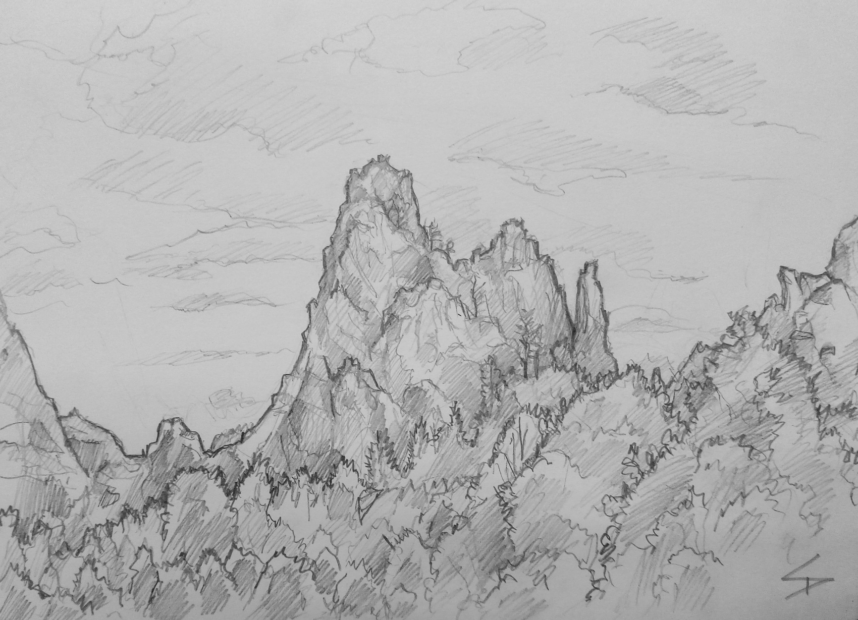 Nature Art - Colorado Springs, Colorado, US. 'Garden of the Gods.' Americans can be very friendly polite, and many passers by were eager to see what I was sketching. Such a stunning location to sit and draw. sketchbookexplorer.com @davidasutton @sketchbookexplorer Facebook.com/davidanthonysutton #gardenofthegods #colorado #coloradosprings #unitedstates #USA #travel #travelblog #art #sketching #nature #wildwest